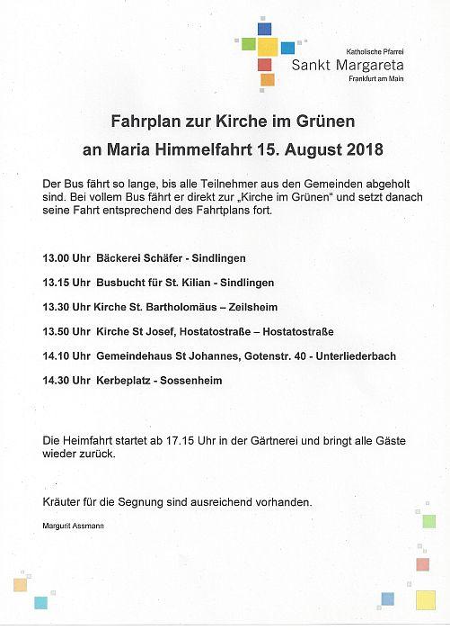20180815 Himmelfahrt Fahrplan